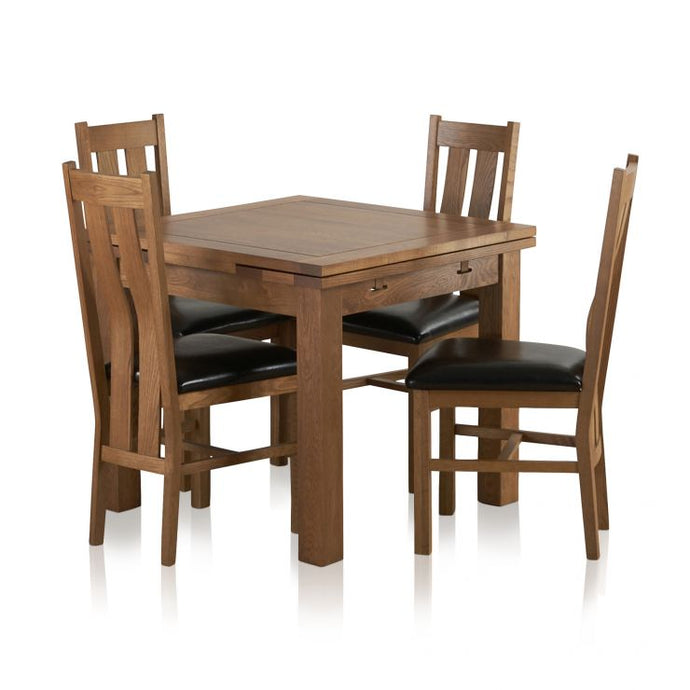 Rustic Solid Oak Dining Table