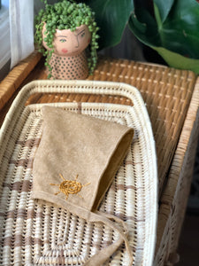 Linen Embroidered Bonnet Sunny