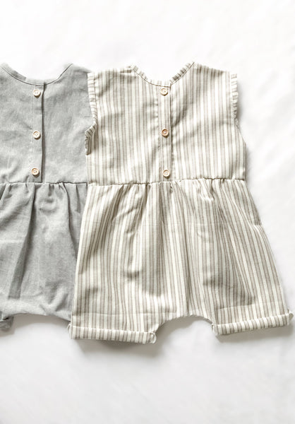 Loose Fit Grow With Me Linen Romper