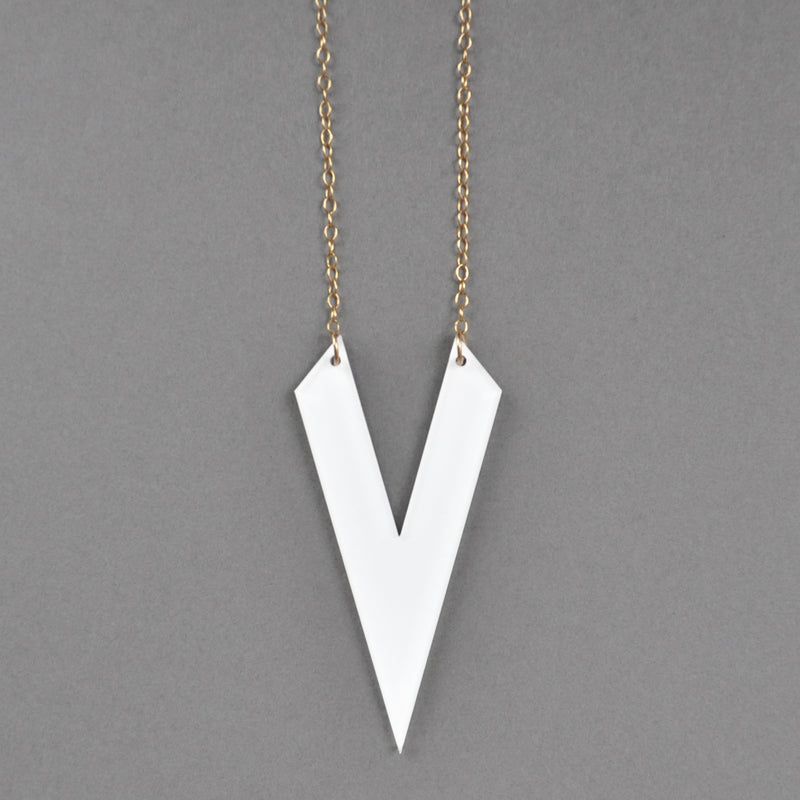 Contemporary Olivia Necklace - White