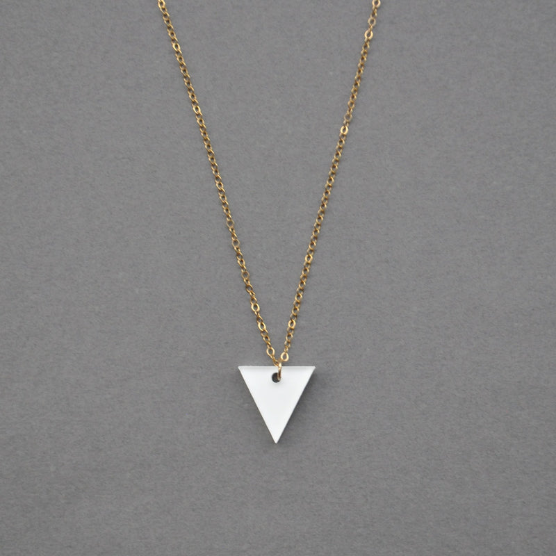 Classic Emma Necklace - White