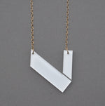 Contemporary Viola Necklace - White