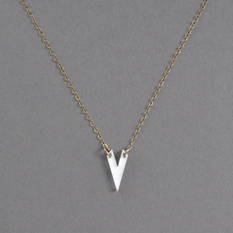 Classic Olivia Necklace - White