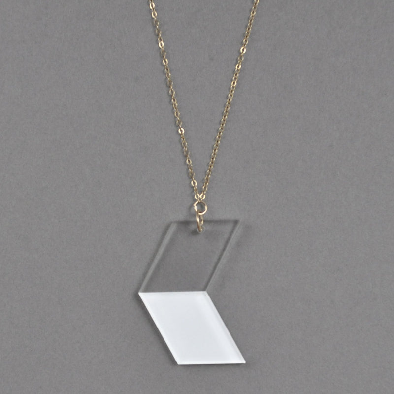 Contemporary Ava Necklace - White