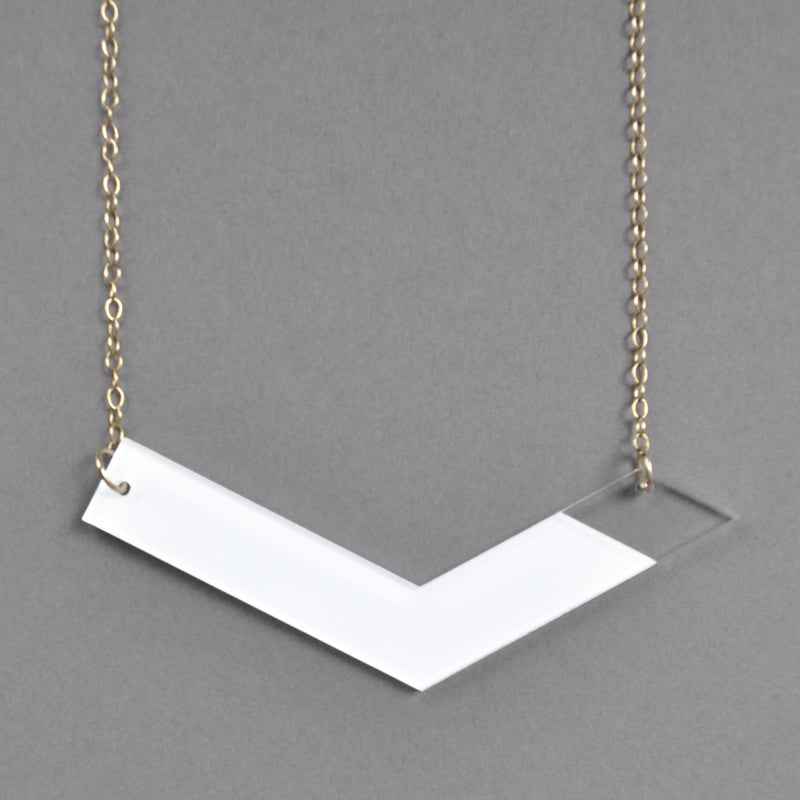Contemporary Vera Necklace - White