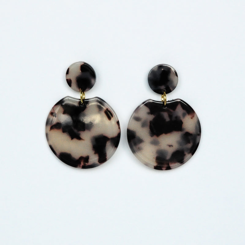 MOD Circle Earrings - Light Tortoise