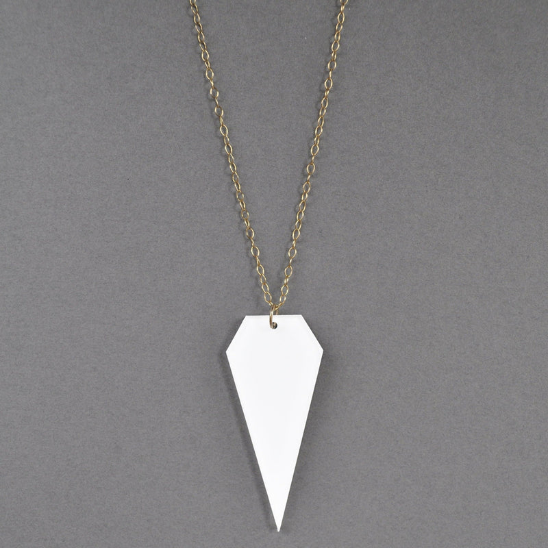 Modern Maya Necklace - White