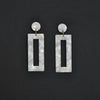 MOD Rectangle Earrings - White