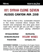 Load image into Gallery viewer, 2018 Shore Pounder Syrah Clone 7
