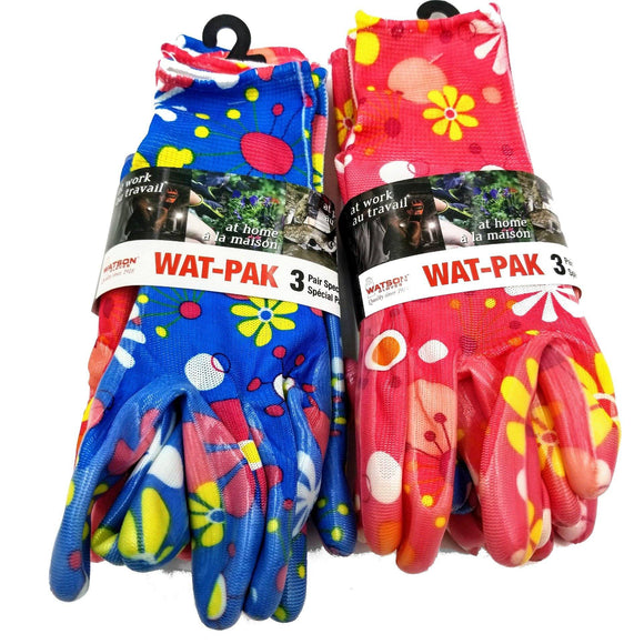 WAT-PAK GROOVY BABIES Gloves (3 Pairs) Medium