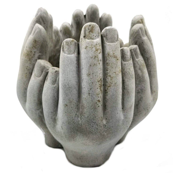 Ring of Hands Cement Planter -3