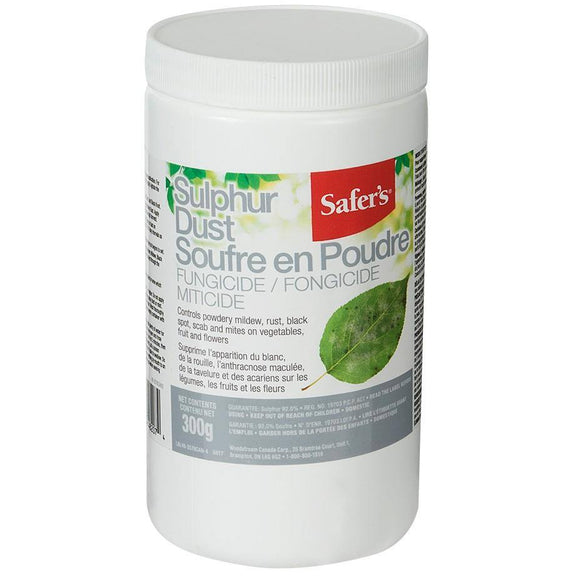 SAFER'S Sulpher Dust - 300g - available from Rice Road Greenhouses in Ontario, Canada