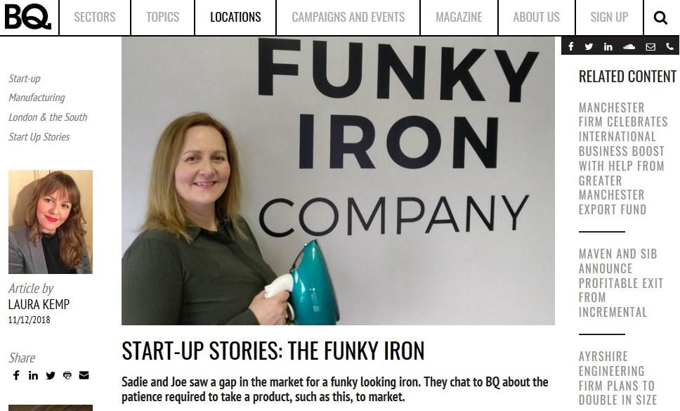BQ LIVE START-UP STORIES: THE FUNKY IRON