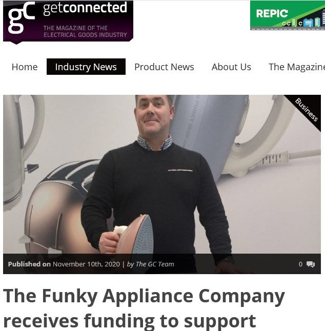 GET CONNECTED: THE FUNKY APPLIANCE COMPANY RECEIVES FUNDING TO SUPPORT GROWTH