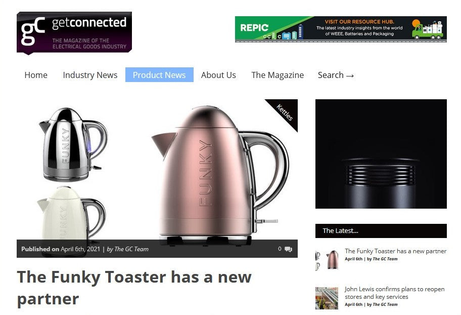 GET CONNECTED: THE FUNKY TOASTER HAS A NEW PARTNER