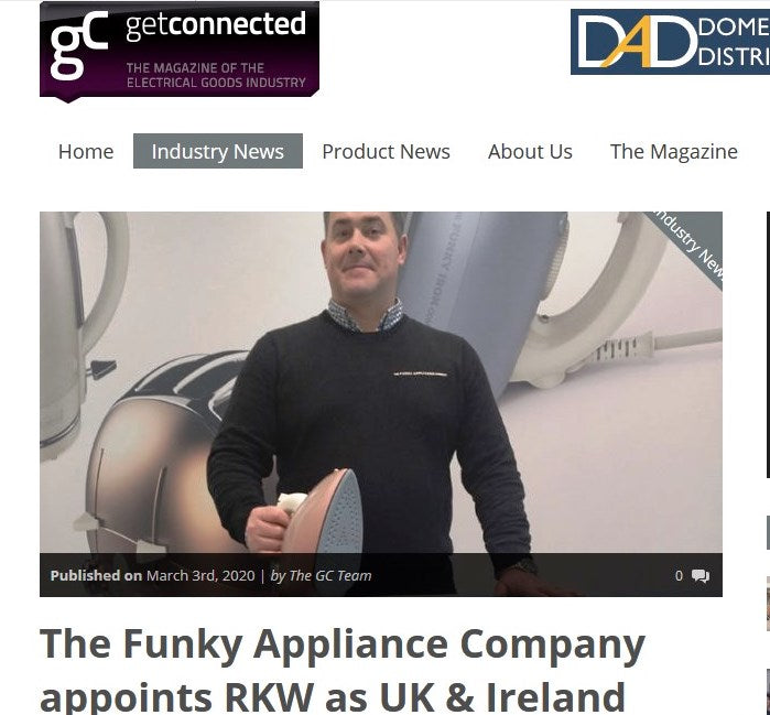 GET CONNECTED: THE FUNKY APPLIANCE COMPANY APPOINTS RKW AS UK & IRELAND DISTRIBUTOR