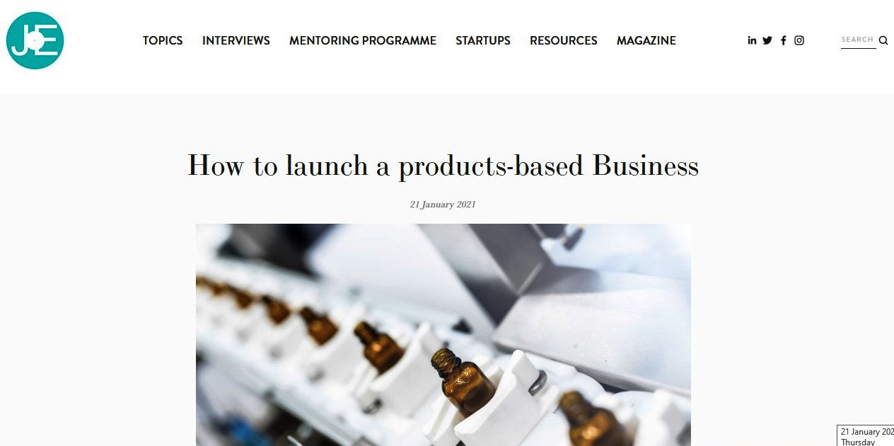 JUST ENTREPRENEURS: HOW TO LAUNCH A PRODUCTS-BASED BUSINESS BY JOE SILLETT, CO-FOUNDER & CEO, THE FUNKY APPLIANCE COMPANY