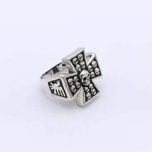 IC: ANILLO PLATA 925 CRUZ CALAVERAS 3