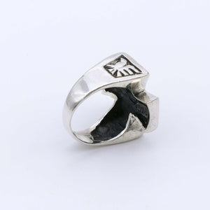 IC: ANILLO PLATA 925 CRUZ CALAVERAS 4