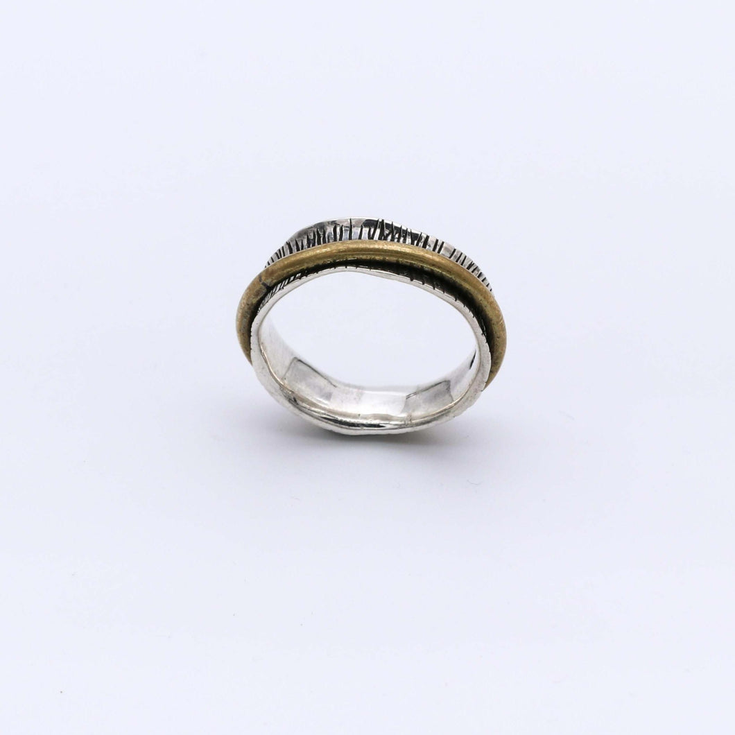 IC: ANILLO PLATA 925 Y BRONCE ANTIESTRES