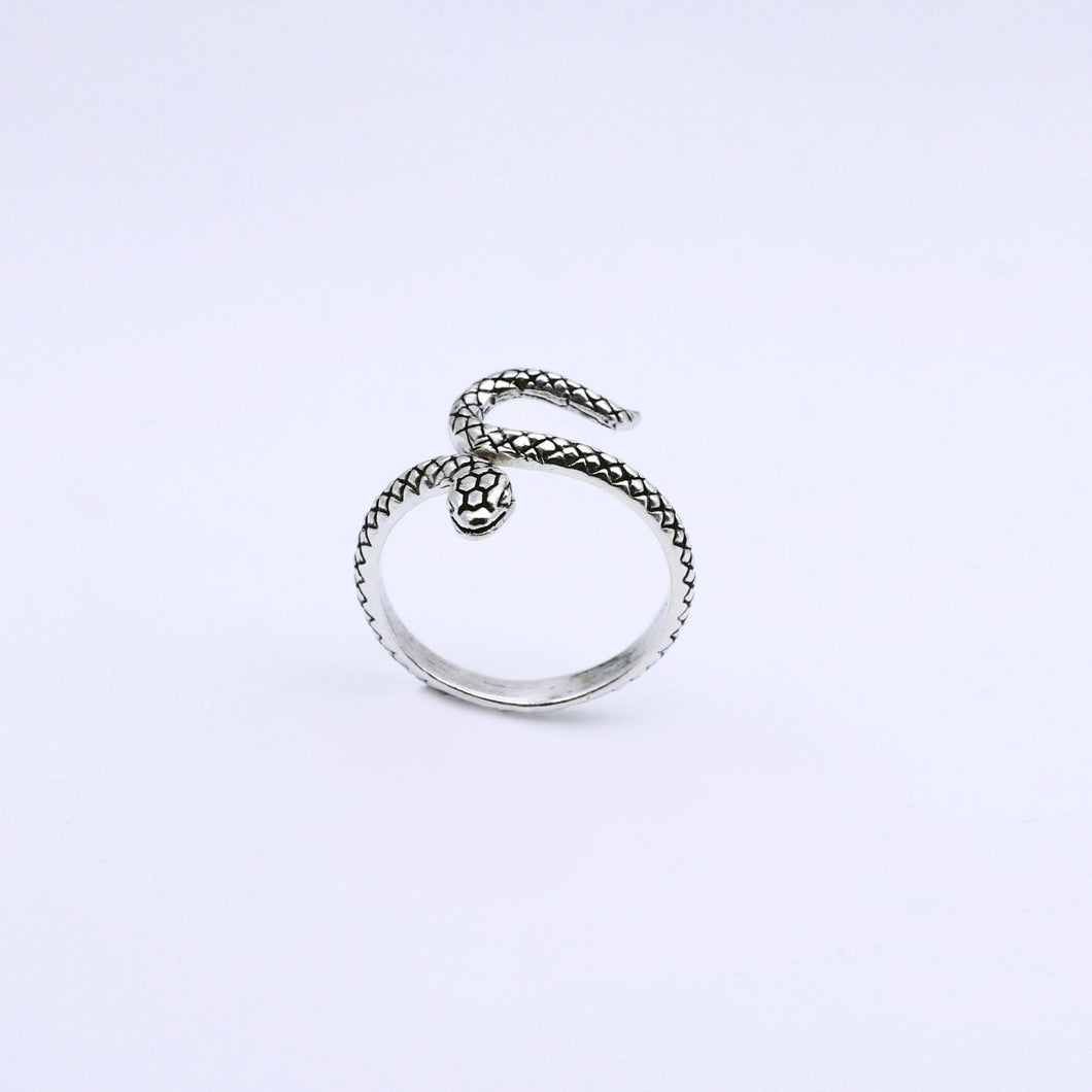 IC: ANILLO PLATA SERPIENTE AJUSTABLE