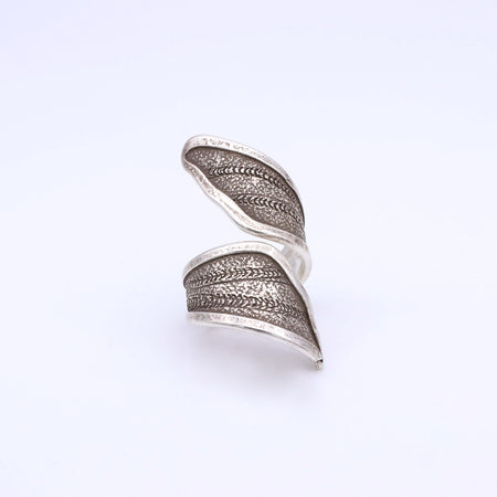 IC: SILVER RING ADJUSTABLE ANILLO PLATA
