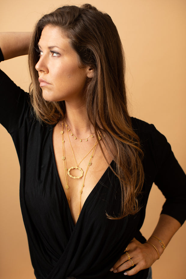 Vermeil Gold Drop Necklace