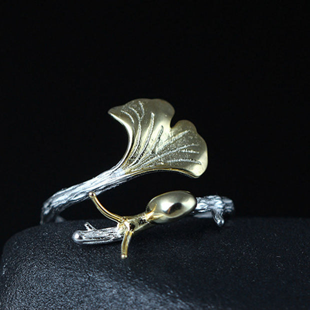 Snail and Ginko Ring