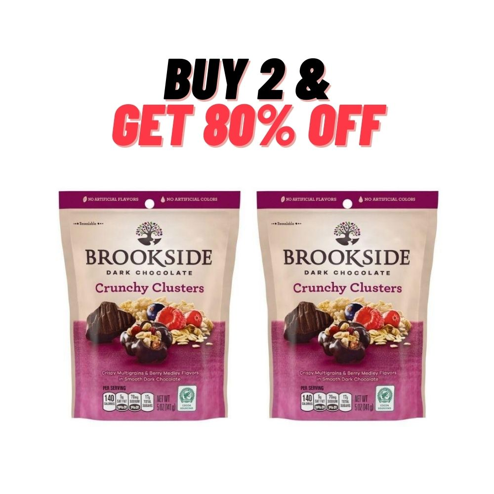 Brookside Dark Chocolate - Crunchy Clusters Berry Twinpack