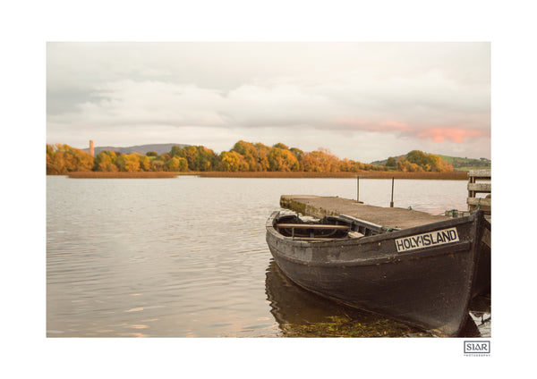 The ferry to Holy Island on Lough Derg in County Clare