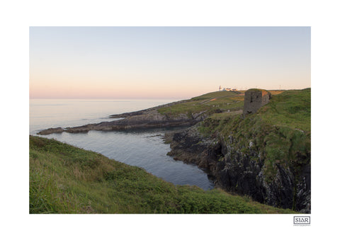 A contemporary irish landscape print of the galley head in West Cork on the Wild Atlantic Way