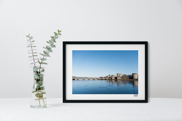 A Framed Contemporary Irish Landscape Print of King John's Castle, Limerick