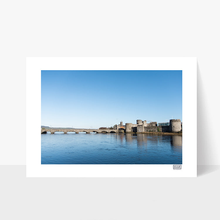 Contemporary Irish Landscape Print of King John's Castle, Limerick