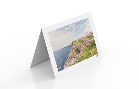 Contemporary Irish Landscape greeting card of Loop Head Lighthouse