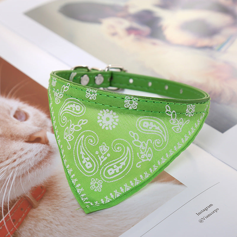 Dog collar Triangle saliva towel