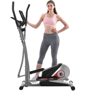 Elliptical Machine Trainer Magnetic Smooth Quiet Driven with LCD Monitor, Home Use by WM version
