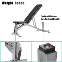 Load image into Gallery viewer, GT Deluxe Utility Weight Bench for Weightlifting and Strength Training Adjustable Sit Up AB Incline Bench Gym Equipment by GT version