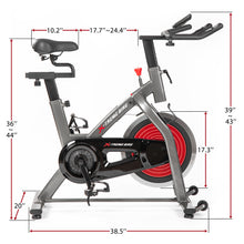Load image into Gallery viewer, Indoor Cycling Bike w/ 4-Way Adjustable Handlebar & Seat, LCD Monitor/ Pulse Sensor for Home Cardio Workout Belt Drive Stationary Bike by MRS version