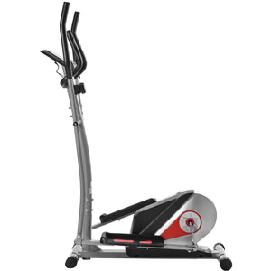Elliptical Machine Trainer Magnetic Smooth Quiet Driven with LCD Monitor, Home Use by WM Red version