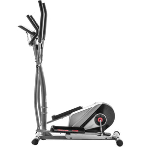 Elliptical Machine Trainer Magnetic Smooth Quiet Driven with LCD Monitor, Home Use by WM Silver version