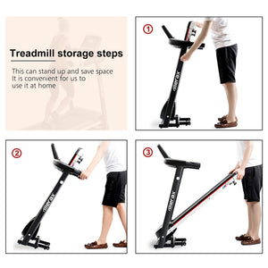 Folding Electric Treadmill Motorized Power Running Machine Fitness by WM version