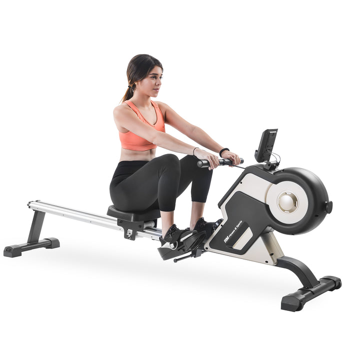 GT Magnetic Rowing Machine Compact Indoor Rower with Magnetic Tension System, LED Monitor and 8-level Resistance Adjustment by GT version