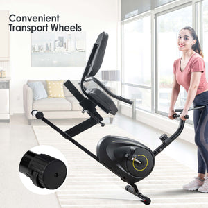 Recumbent Exercise Bike with 8-Level Resistance, Bluetooth Monitor, Easy Adjustable Seat, 380lb Weight Capacity by MRS version