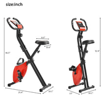 Load image into Gallery viewer, Folding Exercise Bike with 8-Level Adjustable Resistance, Adjustable Seat, LCD Monitor, Perfect for Home Use(New) by WM version