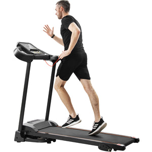 Compact Easy Folding Treadmill Motorized Running Jogging Machine with Audio Speakers and Incline Adjuster by MRS version