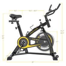 Load image into Gallery viewer, Indoor Cycling Bike Trainer with Comfortable Seat Cushion, Belt Drive System and LCD Monitor for Home Workout by MRS version