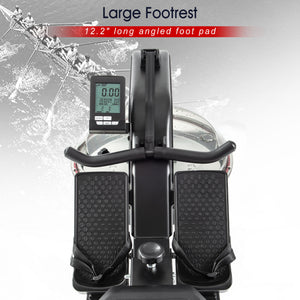 Foldable Water Rowing Machine with LCD Monitor for Home Use by MRS version