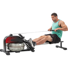Load image into Gallery viewer, Foldable Water Rowing Machine with LCD Monitor for Home Use by MRS version