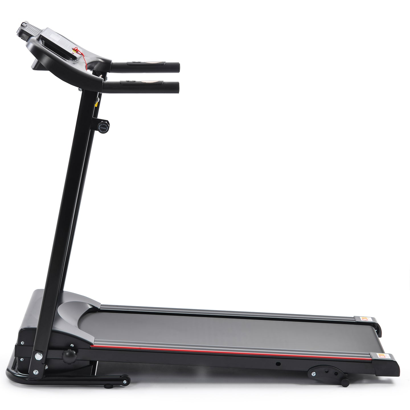 Folding Electric Treadmill Running Machine for Home Black with 3 Manual inclines by Shuli Sports version
