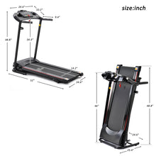 Load image into Gallery viewer, Folding Electric Treadmill Running Machine for Home Black with 3 Manual inclines by Shuli Sports version